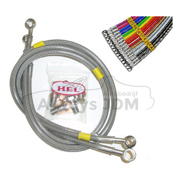 Hel brake hose set steel...
