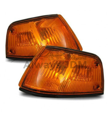 Orange corners Honda Civic...