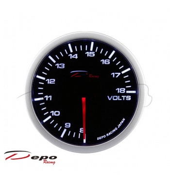 Volt gauge set 52mm Depo...