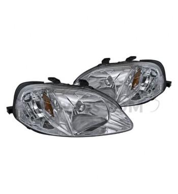 Chrome Headlights Civic