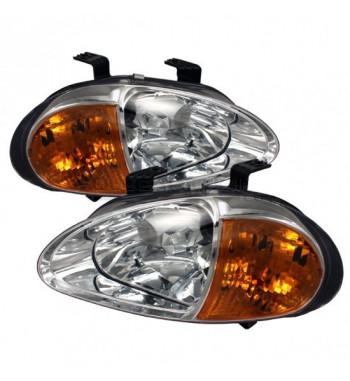 One-piece headlights Chrome...