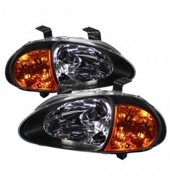 One-piece black headlights...