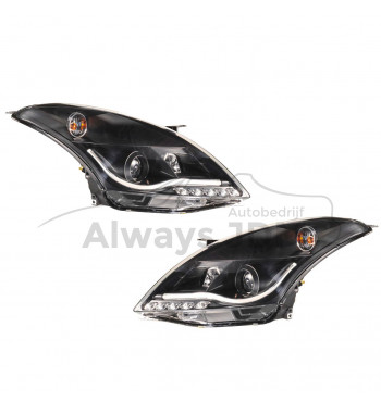 DRL-style headlights black...