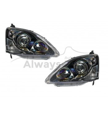 headlights Civic Zwart